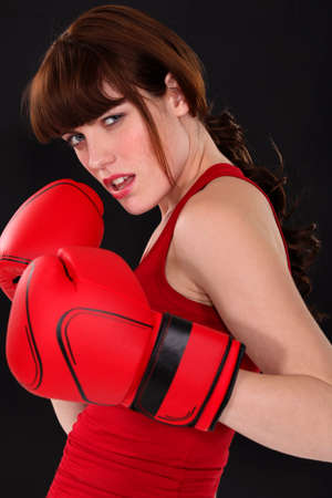 Female boxer photo