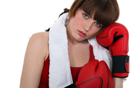 A female boxer photo