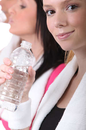 maintained: Woman with water bottle