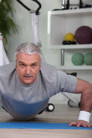physical activity: Man in the gym Stock Photo
