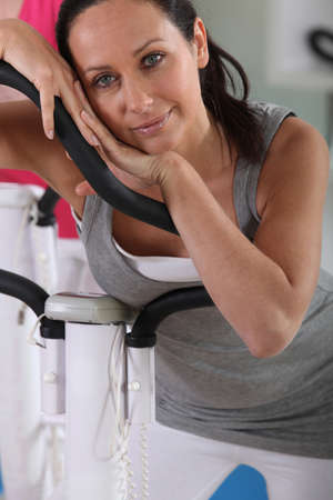 verve: woman resting after cardio exercise