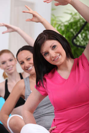 Women in exercise class photo