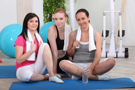 Friends at the gym photo