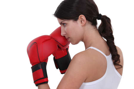 Female boxer Stock Photo - 14210173