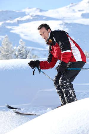 Jazda na nartach człowiek Zdjęcie Seryjne - 14210804
