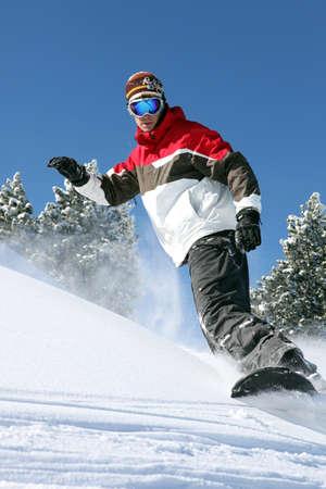 narciarz: Snowboarder w akcji