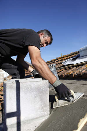 Roofer at work Stock Photo - 14211286