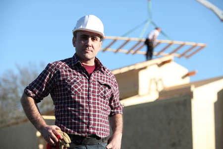 Construction worker on site Stock Photo - 14212776