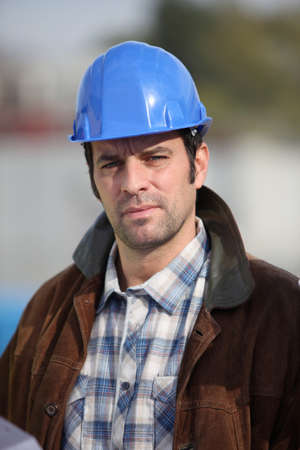 industrial site: Construction worker on site