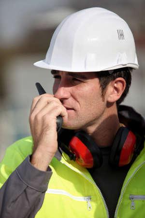 Foreman communication via radio photo