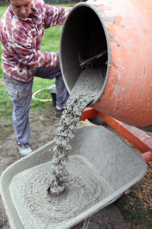 craftsman making cement photo