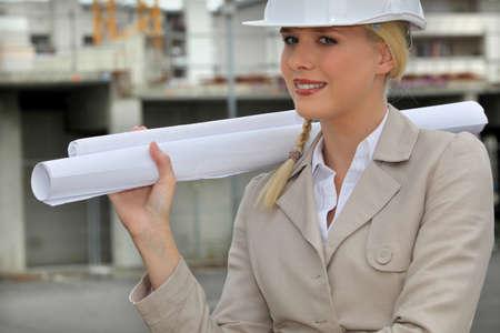 unbiased: female entrepreneur in construction site