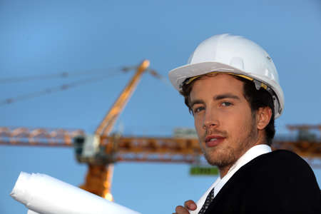 specialized job: Engineer working on-site Stock Photo