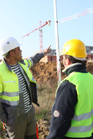 manpower in construction site photo