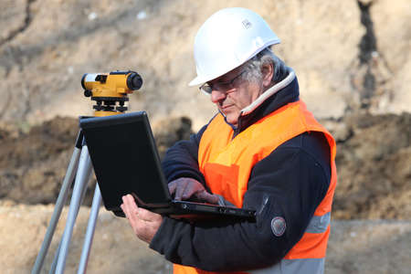specialised: Man conducting a survey