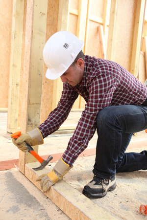 Carpenter at work photo