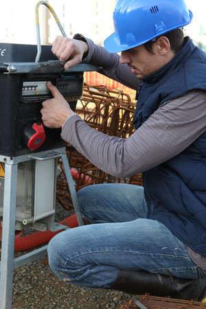 alternator: Builder with a generator