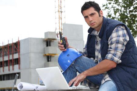 Portrait of a construction foreman photo