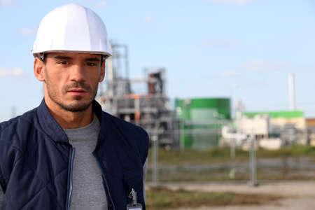 hard hat: Tradesman at work