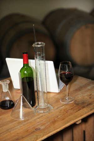 Analysing wine Stock Photo - 15118331
