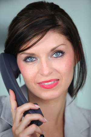 35 40 years: Woman talking on the telephone