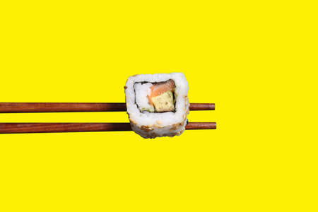 californian: Californian roll on chopsticks