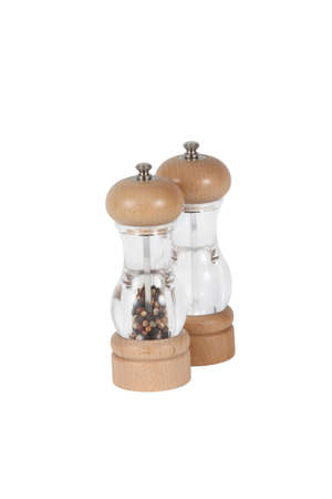 Sal and pepper mills Stock Photo