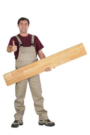 Handyman giving the thumb Stock Photo - 15072330