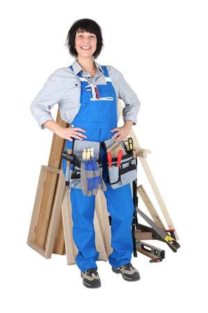workwoman: Female carpenter