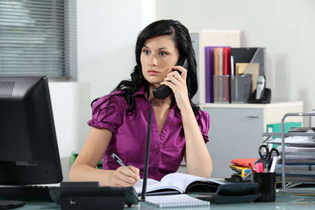 Busy receptionist Stock Photo - 15124950