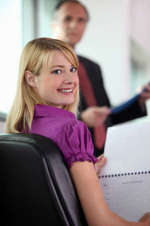 peppy: Woman at a business meeting Stock Photo