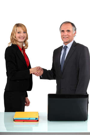 non verbal communication: A business meeting