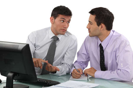 Businessmen having a discussion Stock Photo - 15112166