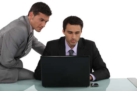 appropriate: businessmen working together Stock Photo