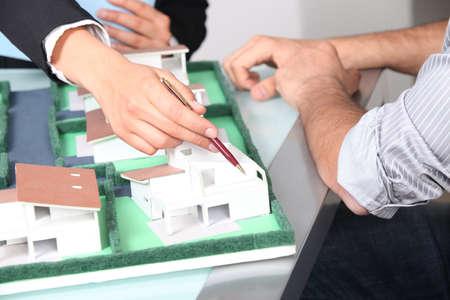 scale model: Architects office Stock Photo