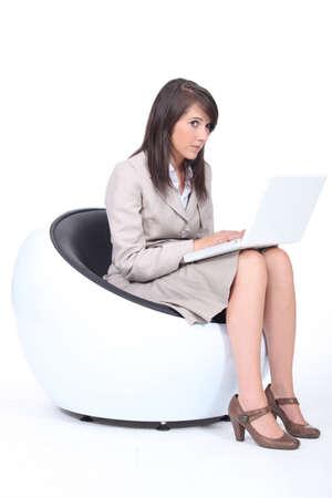 circumspect: Armchair circular Stock Photo