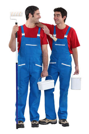 Two painter decorators Stock Photo - 15118902