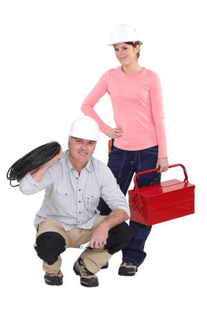 A team of tradespeople Stock Photo - 15118714