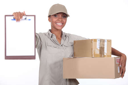 delivery service: Package Delivery Stock Photo