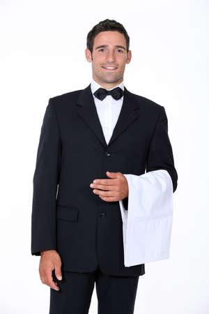 portrait of a waiter photo