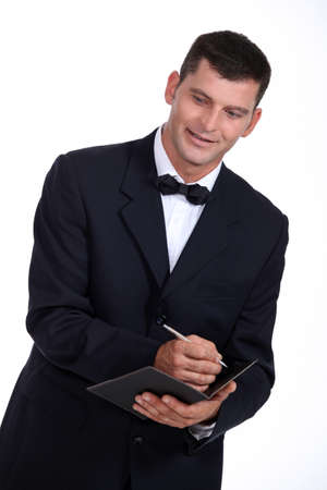 Waiter taking an order Stock Photo - 15118685