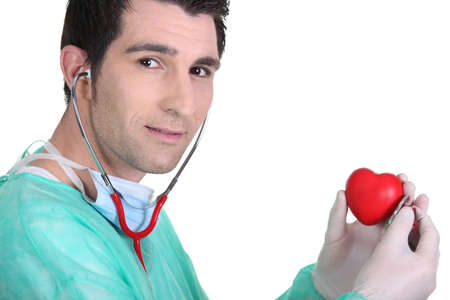 Doctor Listening to Heartbeat Doctor Listening to a Heart's