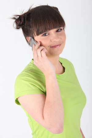 voicemail: Teenager talking on her mobile phone