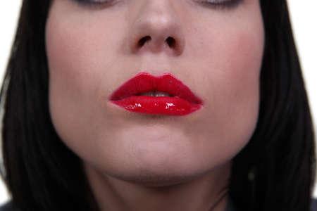 Closeup of a woman photo