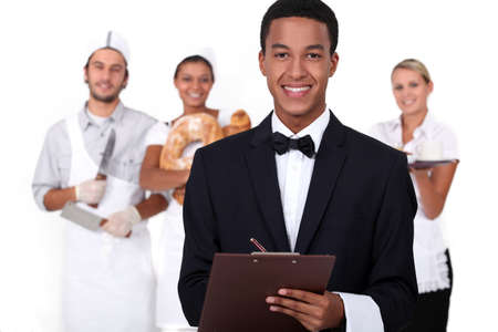 butcher knife: People working in the service industry