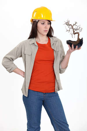 Conservationist worried about the environment photo