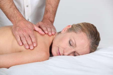 Woman having a massage Stock Photo - 15175484