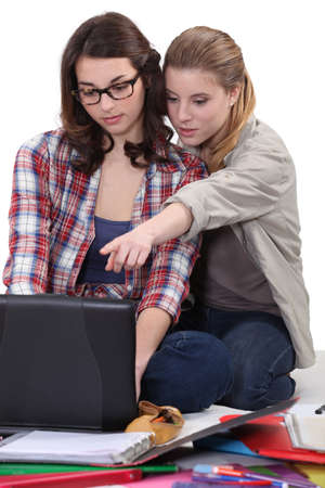 Young women working on a research project Stock Photo - 15175520