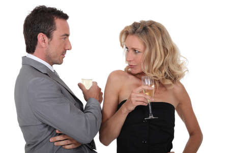 imply: Couple with drinks