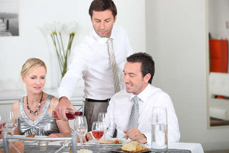 conviviality: dinner party with friends